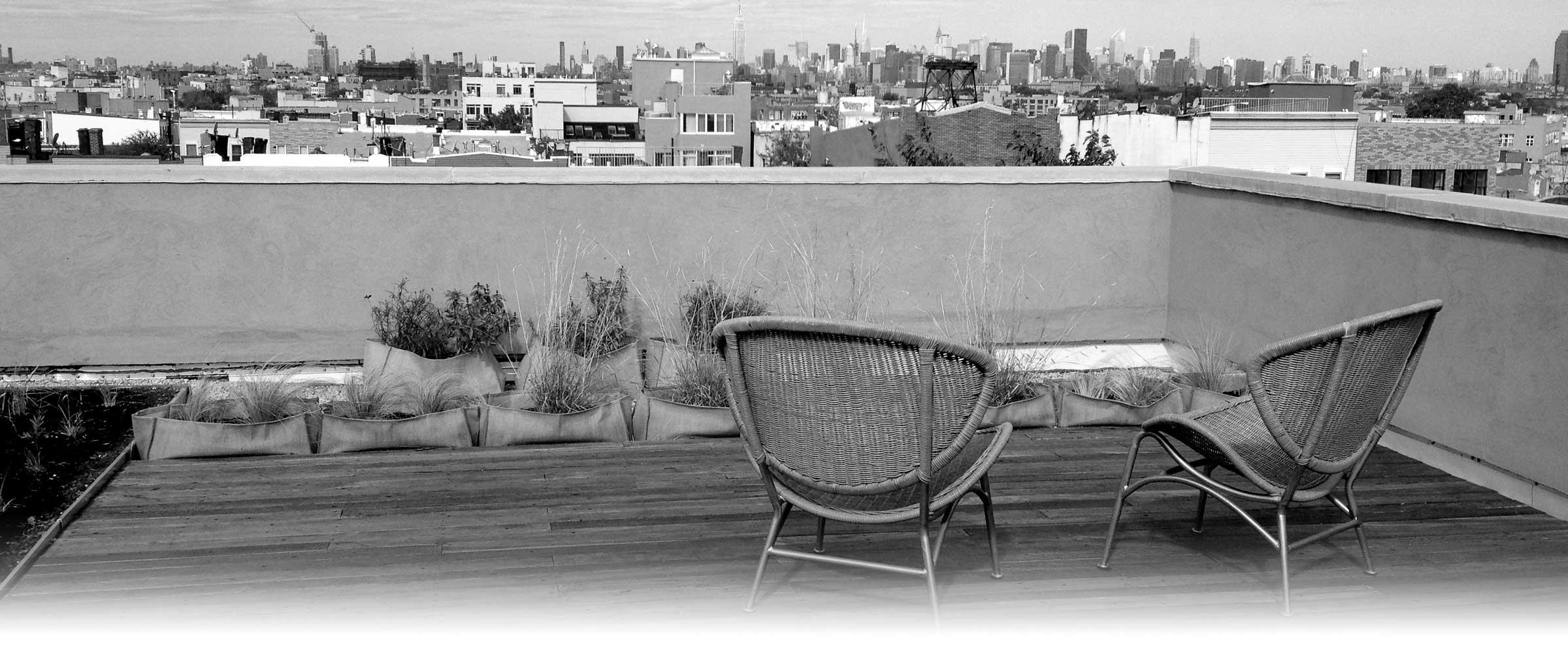 Dachabdeckungen von Balkonen